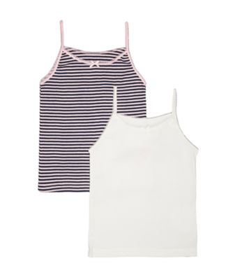 Mothercare Space Bunny Cami Vests - 2 Pack