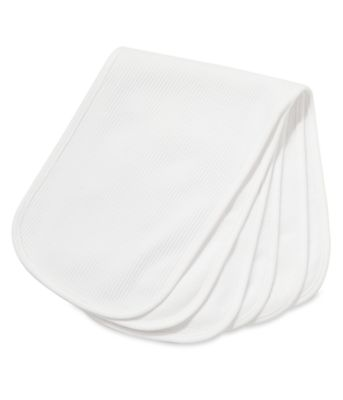 Mothercare Textured White Burp Cloths - 3 Pack