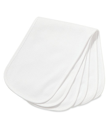 Mothercare Textured Burp Cloths - White 3 pack