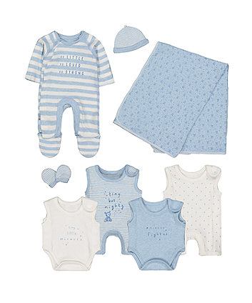 Mothercare Blue Premature Baby Eight-Piece Set