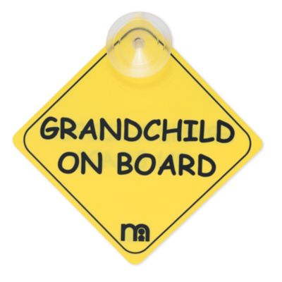 Mothercare Grandchild On Board Sign - Yellow