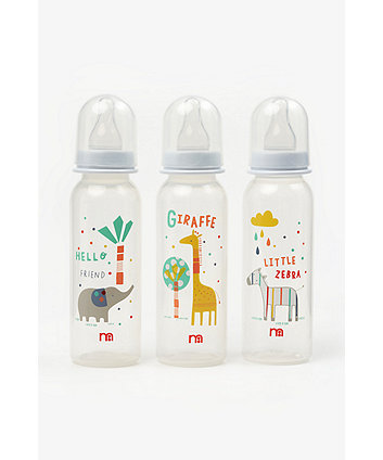 Mothercare Hello Friend Standard Baby Bottles - 3 pack