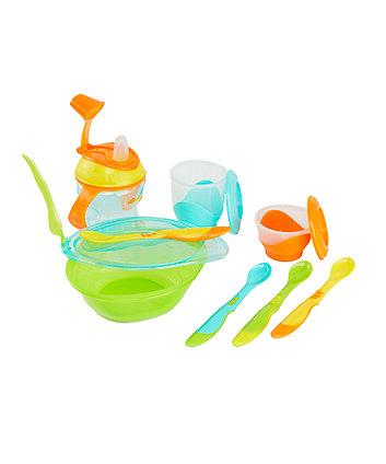 Kopjes, schotels, keukengerei White & Blue  LIMITED STOCK. 5-in-1 Baby Food Utensil Set