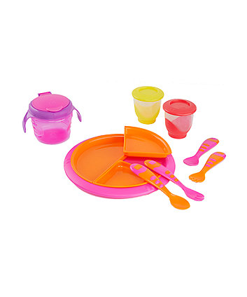 Mothercare Second Stage Feeding Kit - Pink