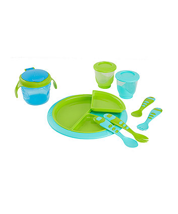Mothercare Second Stage Feeding Kit - Blue