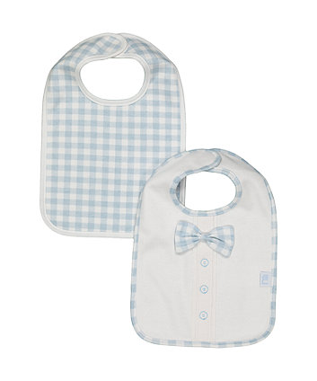 Mothercare Bow Tie Newborn Bibs - 2 Pack