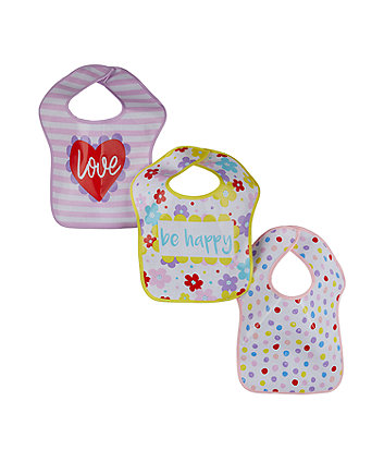 Mothercare Paint Box Oil Cloth Bibs - 3 Pack
