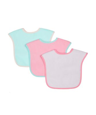 Mothercare Colour-Block Towelling Bibs - 3 Pack