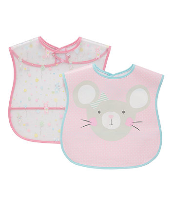 Mothercare confetti party crumb catcher bibs - 2 pack