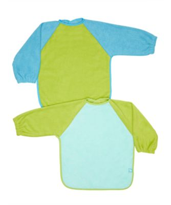 Mothercare Colour Block Towelling Coverall Bibs - 2 Pack
