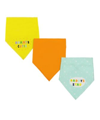 Mothercare Mummy And Daddy Dribbler Bibs - 3 Pack