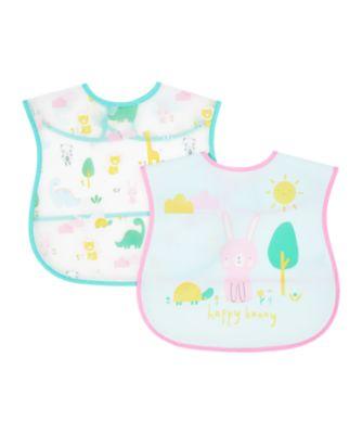 Mothercare Bunny Crumb Catcher Bibs - 2 Pack