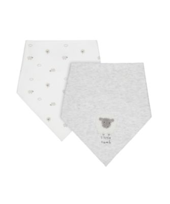 Mothercare Little Lamb New Born Dribbler Bibs - 2 Pack