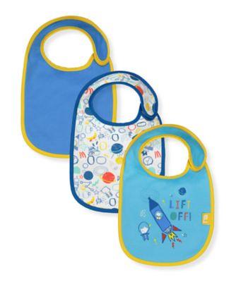 Mothercare Blast Off Newborn Bibs - 3 Pack