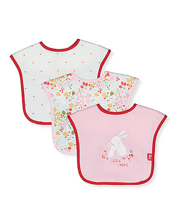 Mothercare Woodland Friends Toddler Bibs - 3 Pack