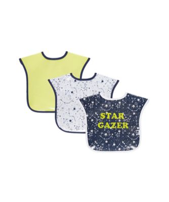 Mothercare Space Dreamer Toddler Oil Cloth Bibs - 3 Pack