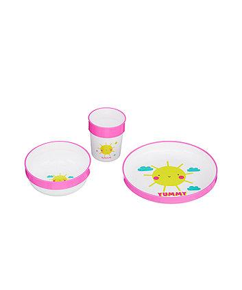 Mothercare Three-Piece Feeding Set - Sunshine