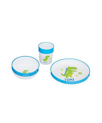 Mothercare Three-Piece Feeding Set - Dinosaur