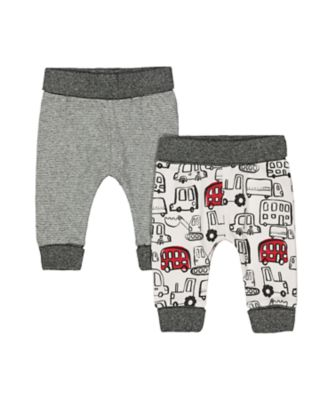 Mothercare Little Car Bus And Stripe Joggers - 2 Pack