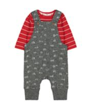 Vehicle Dungarees And Bodysuit Set