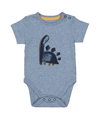 Mothercare Blue Dinosaur Bodysuit