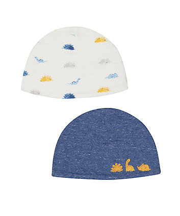 Mothercare Dinosaur Hats - 2 Pack