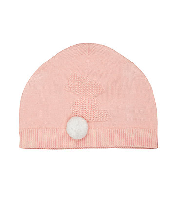 Mothercare Pink Bunny Knitted Hat