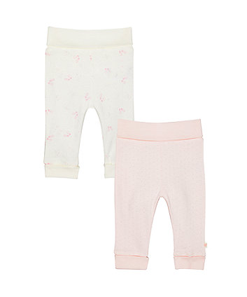 Mothercare My First Pink Joggers - 2 Pack