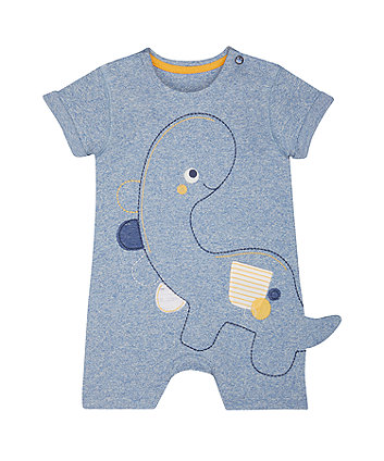 Mothercare Dinosaur Blue Romper