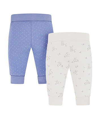 Mothercare Bunny And Spot Joggers - 2 Pack