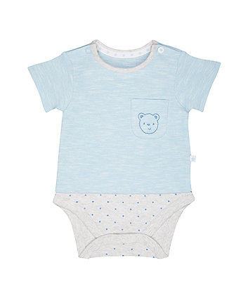 Mothercare My First Bear Mock Bodysuit
