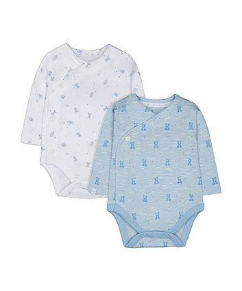 Mothercare My First Bear Bodysuits - 2 Pack