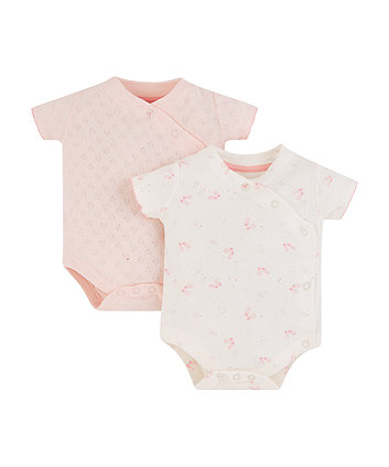 Mothercare My First Hearts And Ballet Shoes Pink Bodysuits - 2 Pack