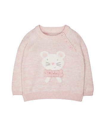 Mothercare My First Pink Cat Jumper