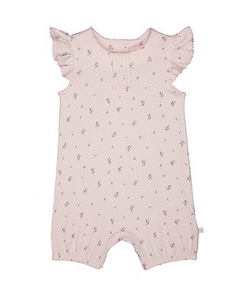 Mothercare Floral Frill Pink Romper