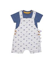 Mothercare Dino Bibshorts And Bodysuit Set
