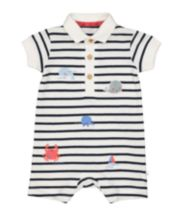 Mothercare Whale Polo Romper