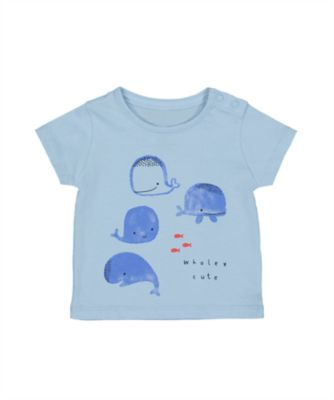 Mothercare Whale Bay Blue Short Sleeve T-Shirt