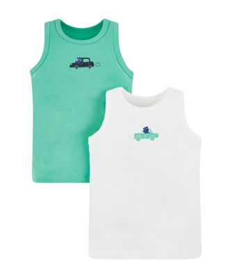 Mothercare Rhino On The Road Vests - 2 Pack