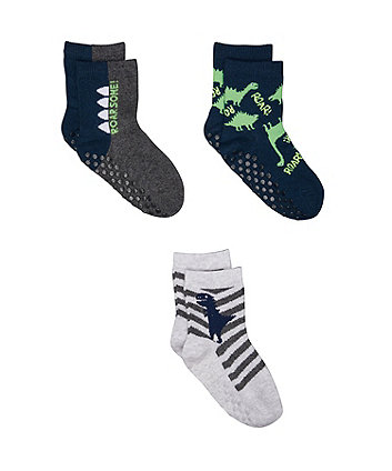 Mothercare Dino And Star Socks - 3 Pack