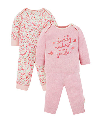 Mothercare Daddy Makes Me Smile Pyjamas - 2 Pack