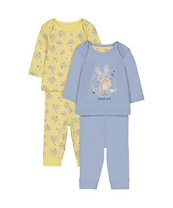 Mothercare Bunny And Flower Pyjamas