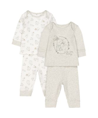 Mothercare Little Woodlands Love You Always Pyjamas - 2 Pack