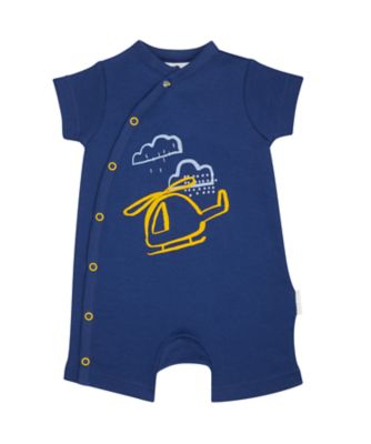 Mothercare On The Road Blue Helicopter Romper