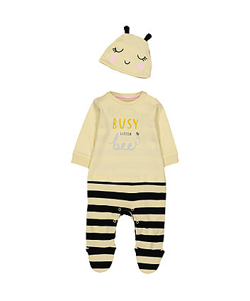 Mothercare Busy Little Bee All In One With Hat