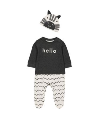 Mothercare Dress Up Zebra All In One With Hat
