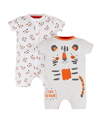 Tiger Rompers - 2 Pack