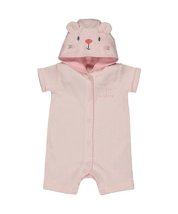 My First Bunny Hooded Romper