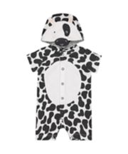 Mothercare Black And White Cow Romper