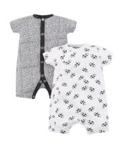 Mothercare Black And White Cow Romper - 2 Pack